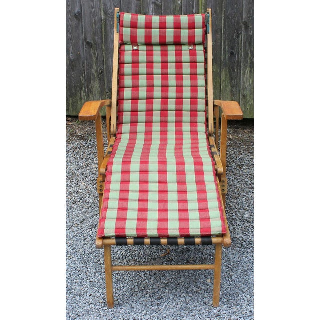 Mid-Century Modern Italian Chaise Lounge For Sale - Image 3 of 8