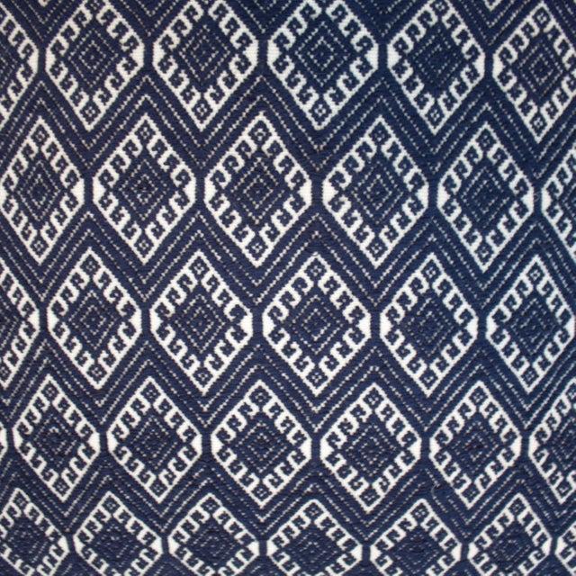 San Cristobal Brocade Pillow - Navy - Image 4 of 5