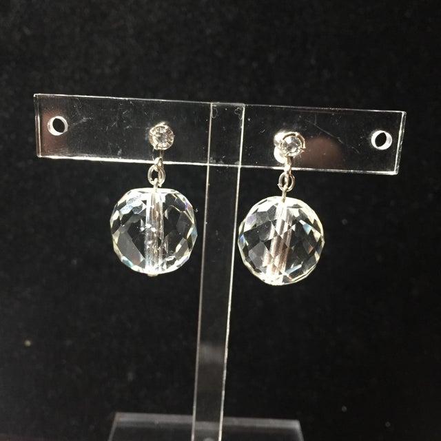 Edwardian Cut Lead Crystal Bead Choker Necklace & Sterling Earrings,1905 For Sale - Image 9 of 13