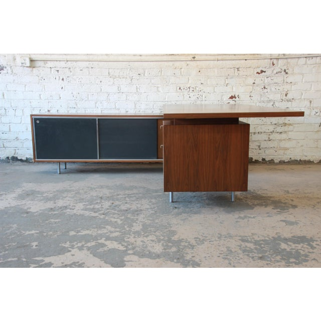 Herman Miller George Nelson for Herman Miller L-Shaped Executive Desk, 1950s For Sale - Image 4 of 13