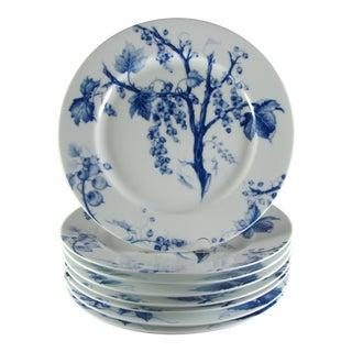 Williams Sonoma Ormonde Blue Dinner Plates - Set of 8 For Sale