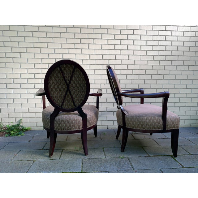 Modern Barbara Barry Baker Chairs - a Pair For Sale - Image 3 of 8
