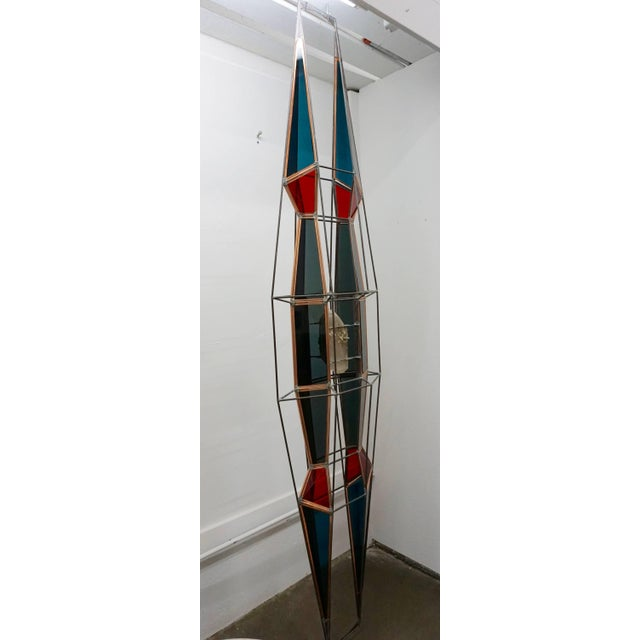 Blue 3D Stained Glass Sculpture For Sale - Image 8 of 8
