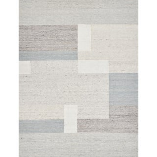 Schumacher Patterson Flynn Martin Bendy Takahi Hand-Woven Wool Geometric Rug - 9' X 12' For Sale