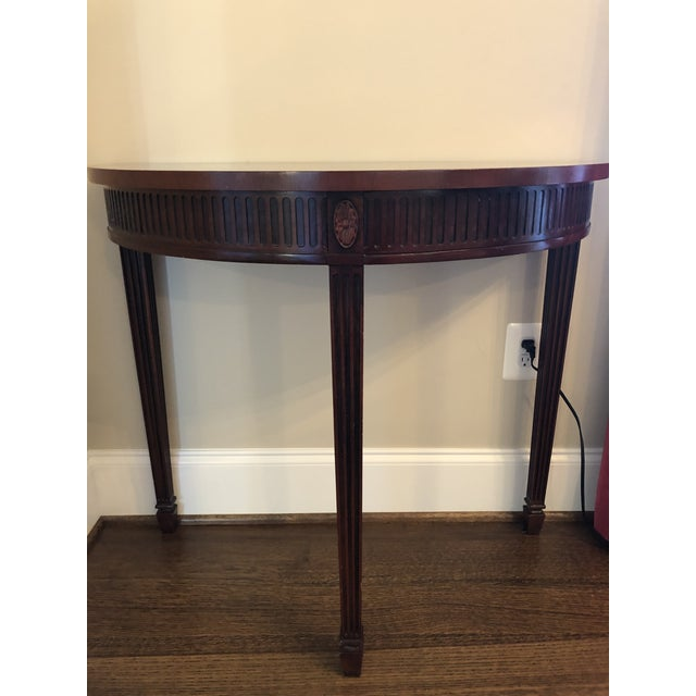 2000 - 2009 Hickory Chair Mahogany Demilune Table For Sale - Image 5 of 5