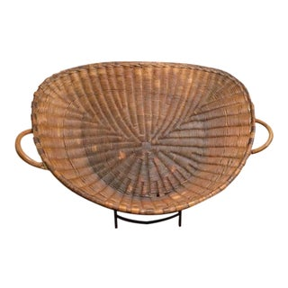 19th Century French Winnowing Basket For Sale