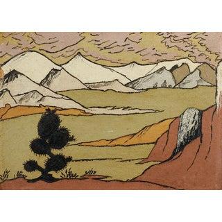 Folk Art Landscape Sand Painting For Sale