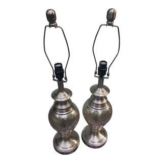 1980s Art Deco Lamps- a Pair