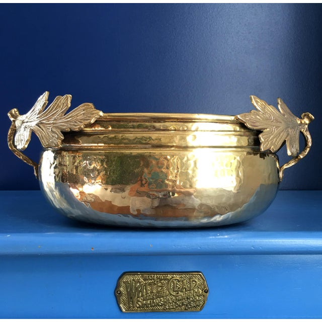 Metal 1990s Solid Brass Planter/Bowl For Sale - Image 7 of 7