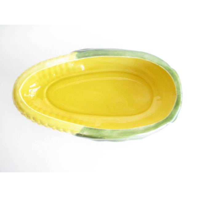 1970s Handmade Corn Shaped Ceramic Covered Serving Dish For Sale - Image 9 of 13