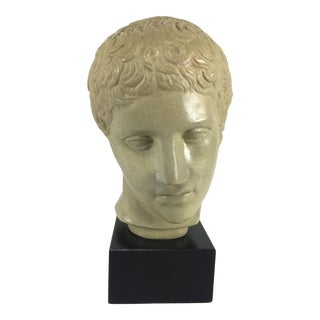 1950s Vintage Plaster Bust of Apollo For Sale