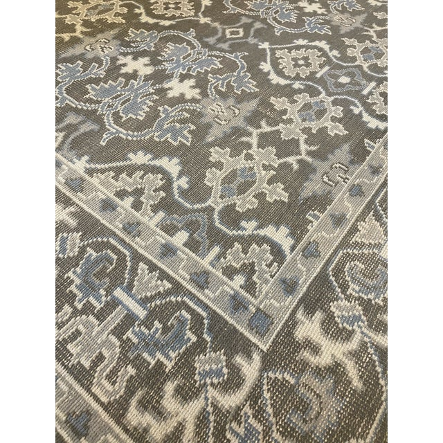 1990s Transitional Mansour Quality Handwoven Wool Rug - 8' X 10' For Sale - Image 5 of 5