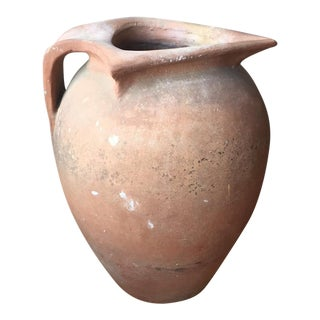 Large Antique Tuscan Terracotta Pot with Spout For Sale