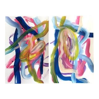 """Taurus Sun"" Original Painting Pair For Sale"