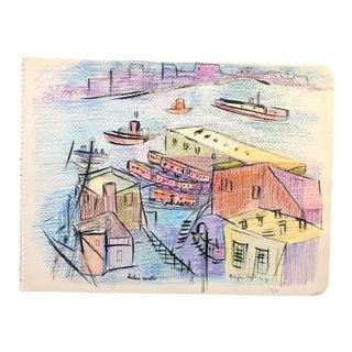 Brooklyn Heights 1939 by Helen Malta For Sale