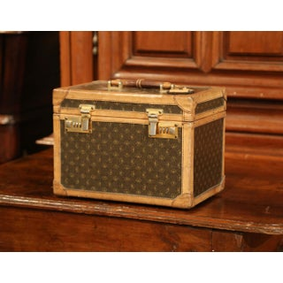 19th Century French Leather Toiletry Box With Decorative Trim and Brass Hardware Preview