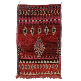 20th Century Moroccan Berber Rug - 5'3 X 7'8 For Sale