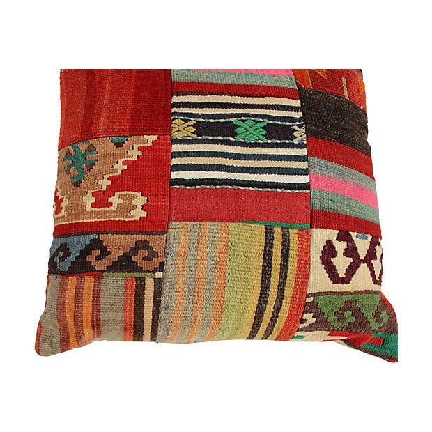 Patchwork Kilim Large Pillow - Image 4 of 5