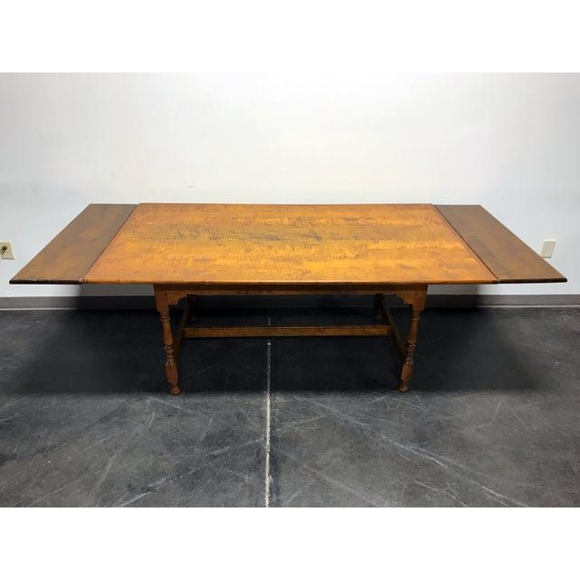 JL Treharn Tiger Maple Mission Shaker Amish Style Farmhouse Dining Table For Sale - Image 10 of 11