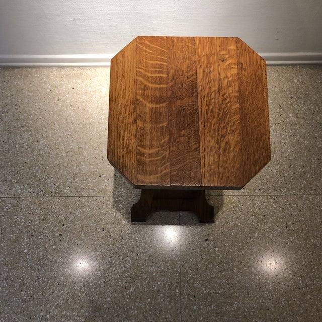 1940s Traditional Oak Pedestal For Sale - Image 4 of 11