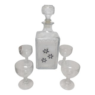 Vintage Italy Decanter Set - 5 Pieces For Sale