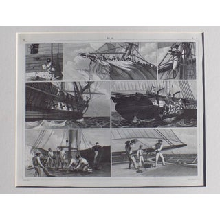 Naval Science Print, 1852 For Sale