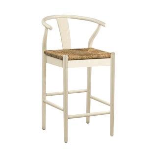 White Woven Oak Counter Stool For Sale