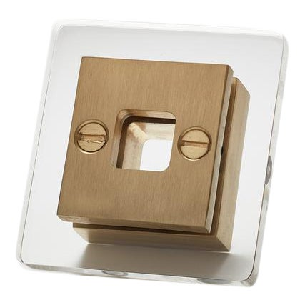 Nest Studio Collection Transparency-13 Satin Brass Handle For Sale