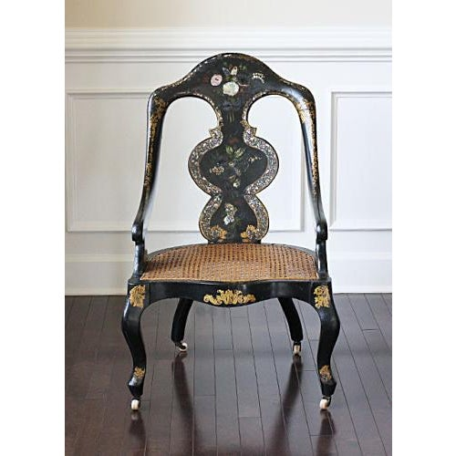 Papier Mâché Mother of Pearl Chair - Image 2 of 4