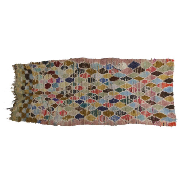 Boujad rugs are hand woven pile rugs from a small region in Haouz between the Middle Atlas and the Atlantic ocean....