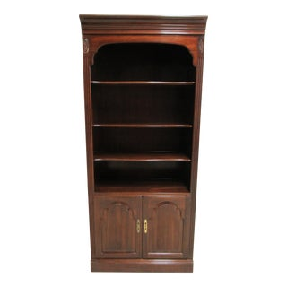Ethan Allan Georgian Court Chippendale Bookcase Display Cabinet