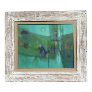 Abstract Mid-Century Oil Painting