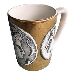 "Porcelain ""Monete"" Mug by Piero Fornasetti For Sale"