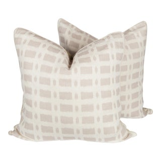 Schumacher Townline Road Pillows, a Pair For Sale