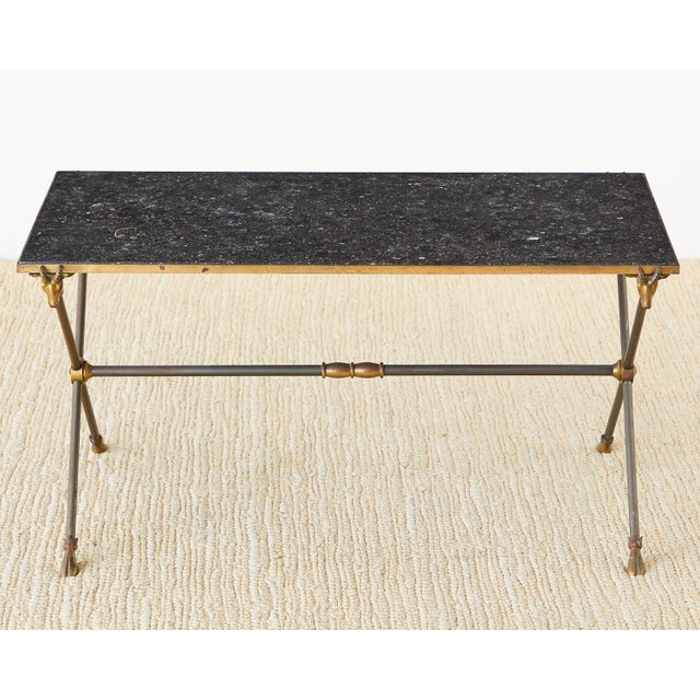 Metal Maison Ramsay Marble Rams Head Cocktail Table For Sale - Image 7 of 13