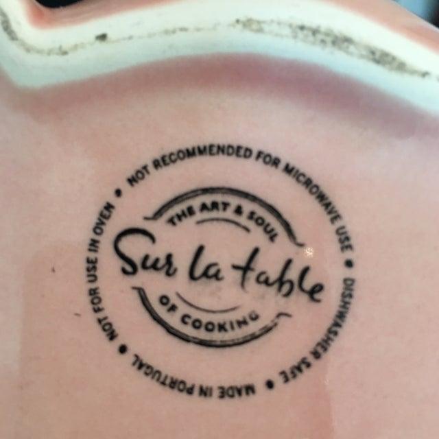 Ceramic Sur La Table Pink Pig Water Juice Pitcher Carafe Jug For Sale - Image 7 of 11