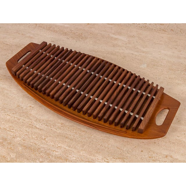Brown Dansk Serving Tray and Trivet Set by Jens Quistgaard - 2 pieces For Sale - Image 8 of 8