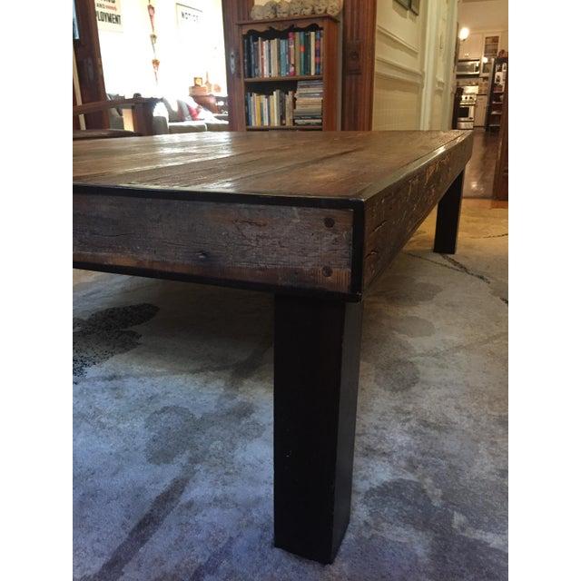 Oversized Reclaimed Barnwood Coffee Table   Chairish
