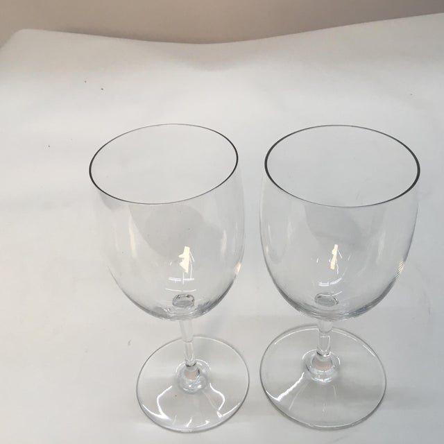 Baccarat Baccarat France Crystal Wine Glasses - a Pair For Sale - Image 4 of 7
