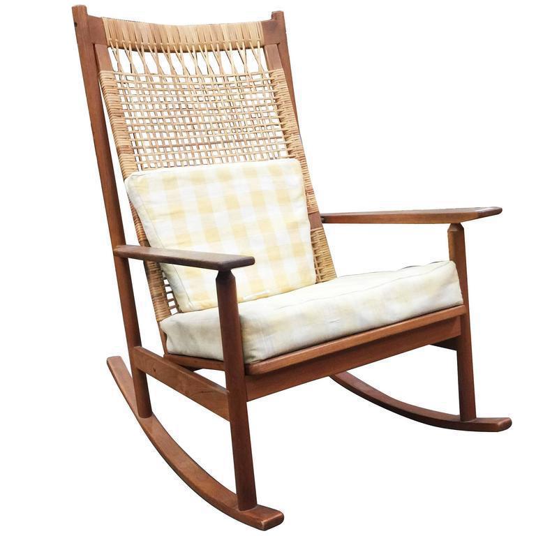 Danish Modern Rocking Chairs By Hans Olsen For Juul Kristiansen For Sale