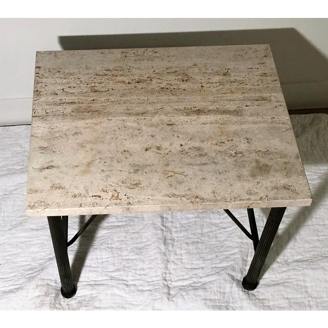 Travertine Indoor/Outdoor Side Table For Sale In Chicago - Image 6 of 6