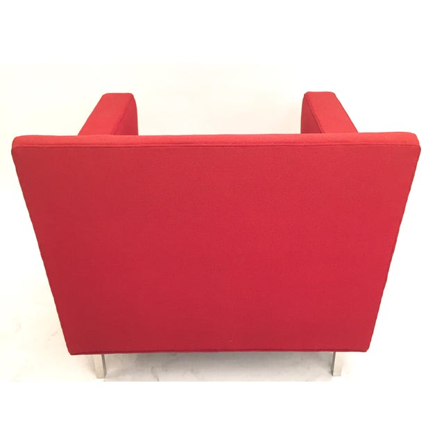 Upholstered Red Dunbar Arm Chair - Image 5 of 6