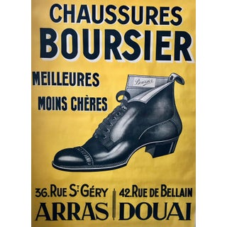 1920s Original French Art Deco Poster, Chaussures Boursier For Sale