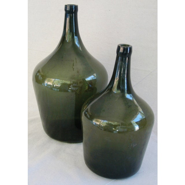 French Handblown Demijohn Bottles - Pair - Image 2 of 5