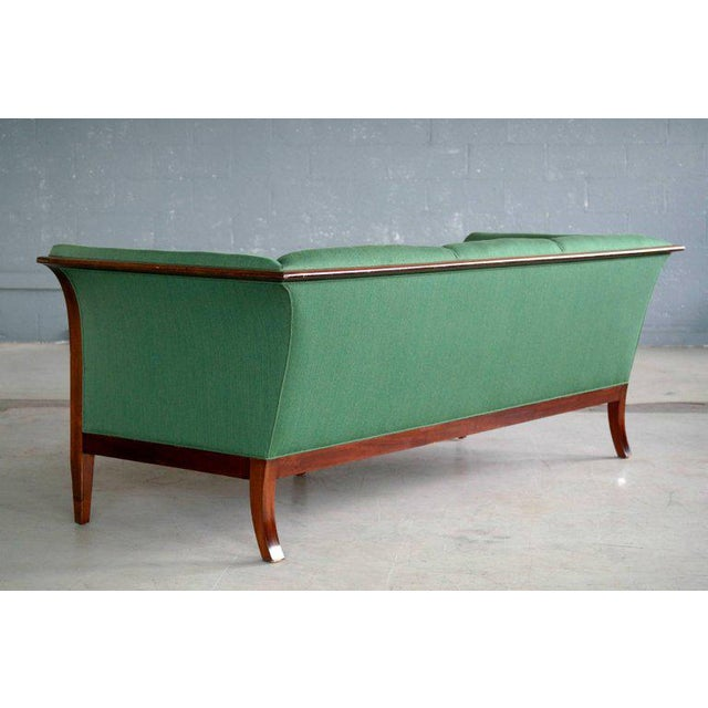 Fabric Frits Henningsen Danish Mid-Century Modern Sofa in Cuban Mahogany For Sale - Image 7 of 8