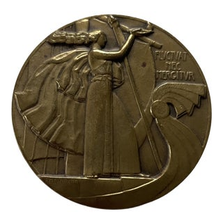 1930s French Art Deco Table Medal For Sale