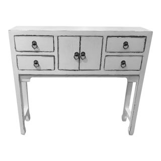 Chinese White Console Table For Sale