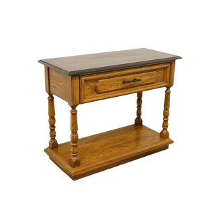 Late 20th Century Vintage Thomasville Huntley Oak Country FrenchTable For Sale