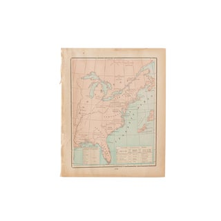 Cram's 1907 Map of Original Territories For Sale