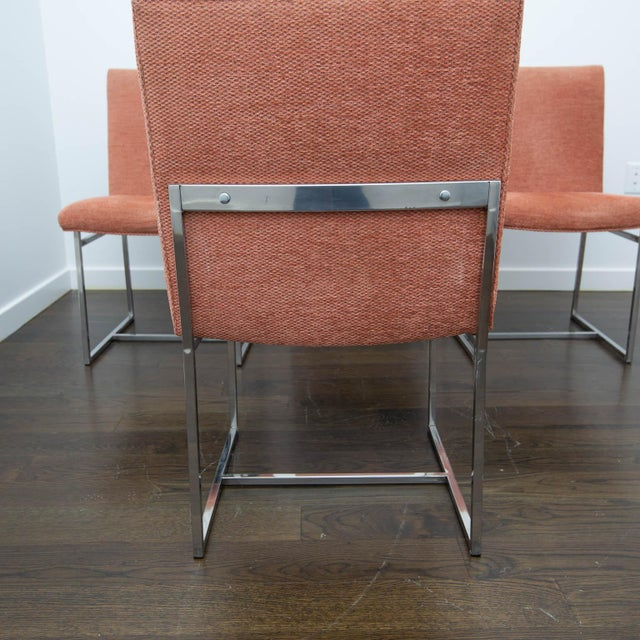 Set of 4 Milo Baughman Style Dining Chairs For Sale - Image 9 of 10